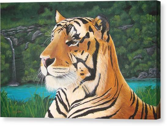Tiger Falls Canvas Print by Jeffrey Oldham