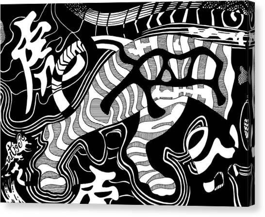 Tiger Legs Canvas Print