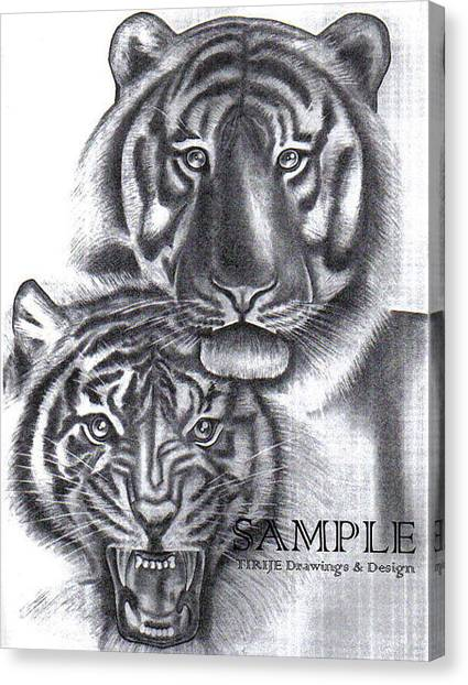 Tigers Canvas Print by Rick Hill