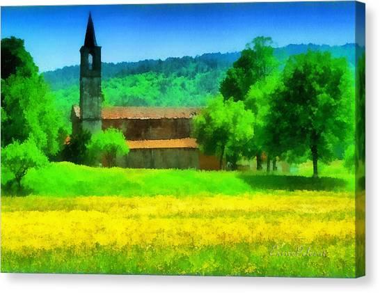 Tiglieto Abbazia Cistercense Canvas Print