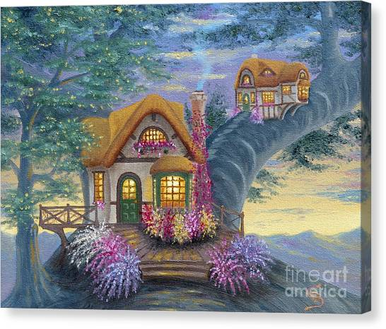 Tig's Cottage From Arboregal Canvas Print