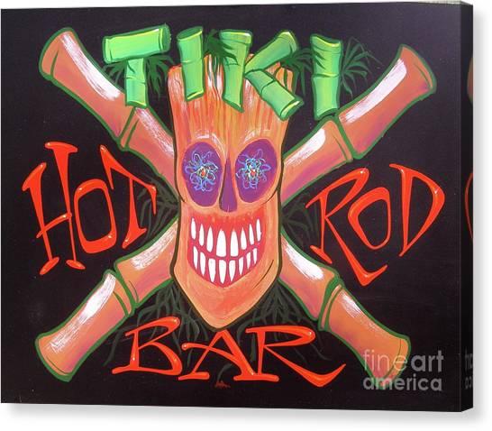 Tiki Hot Rod Bar Canvas Print
