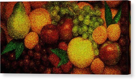 Tiled Fruit  Canvas Print