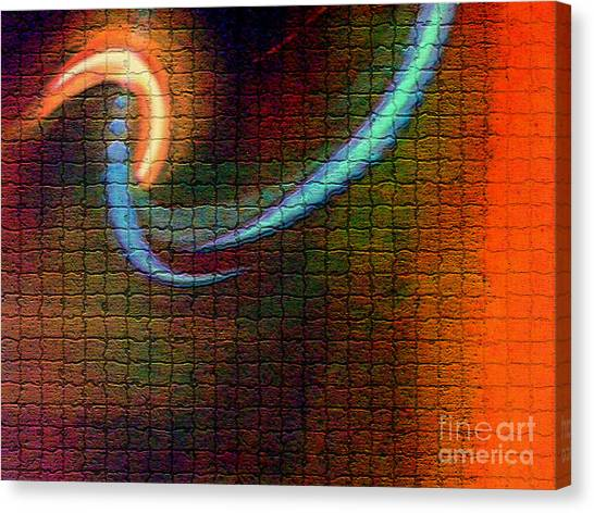 Tiles All Aglow Canvas Print