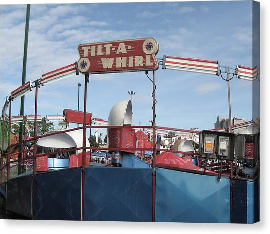 Tilt A Whirl Ride Canvas Print