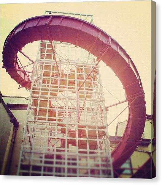 Spiral Canvas Print - Tilt-a-whirl by Tom Crask