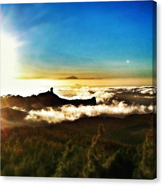Volcanoes Canvas Print - Tilt-shift Sunrise by Manuel M Almeida