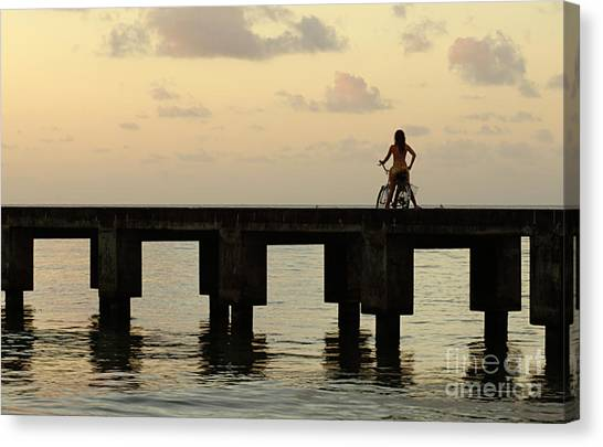 Surfboard Fence Canvas Print - Time For Me by Bob Christopher
