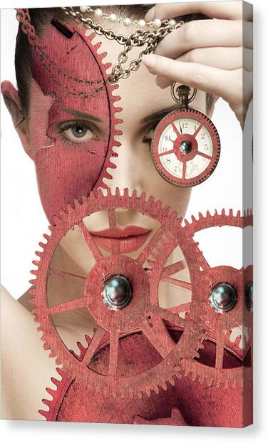 Time Is An Illusion Canvas Print by Rozalia Toth