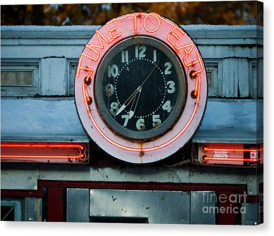 Cafes Canvas Print - Time To Eat by Edward Fielding