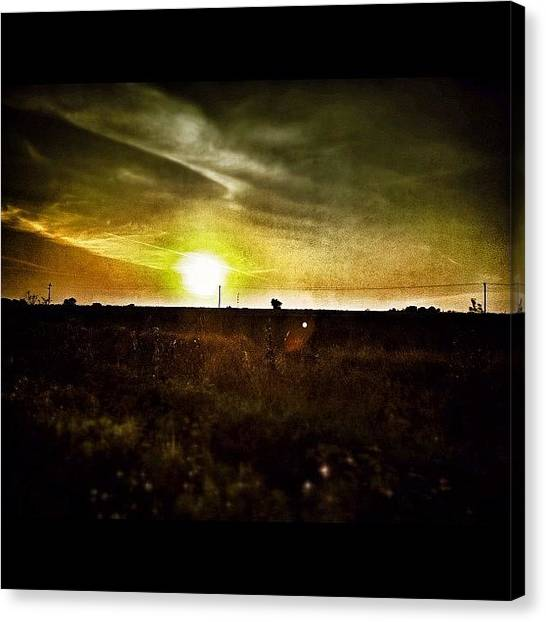 Sunset Horizon Canvas Print - Time To Head Home by Christian Mirando