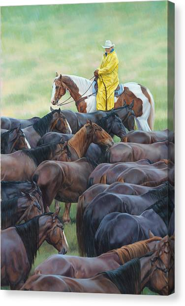 Equestrian Canvas Print - Time To Soak by JQ Licensing