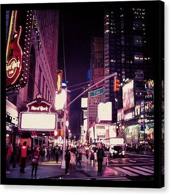 Hurricanes Canvas Print - Times Square New York City!! by Hurricane Katrina
