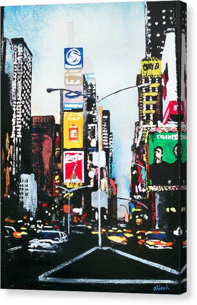 Times Square Nyc Canvas Print by Ann Marie Napoli