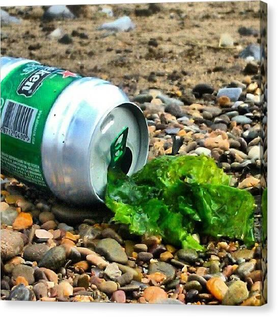 Lager Canvas Print - #tinny #seasick #seaside #seaweed by Kevin Zoller