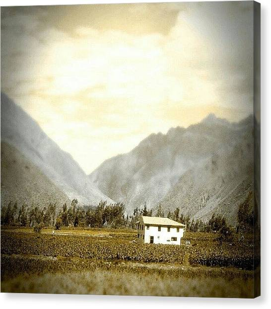 Peruvian Canvas Print - #tiny #house In The #valley by Yannick Menard