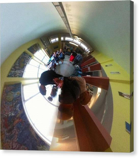 Schools Canvas Print - #tinyplanet #ifollowback by Andy Brown