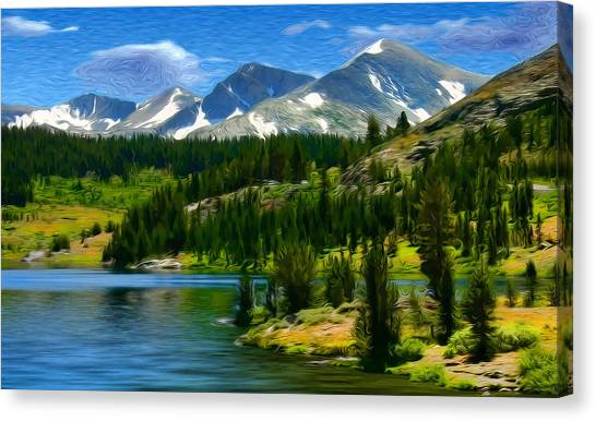 Tioga Lake Frank Lee Hawkins Canvas Print