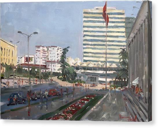 Hotels Canvas Print - Tirana by Ylli Haruni