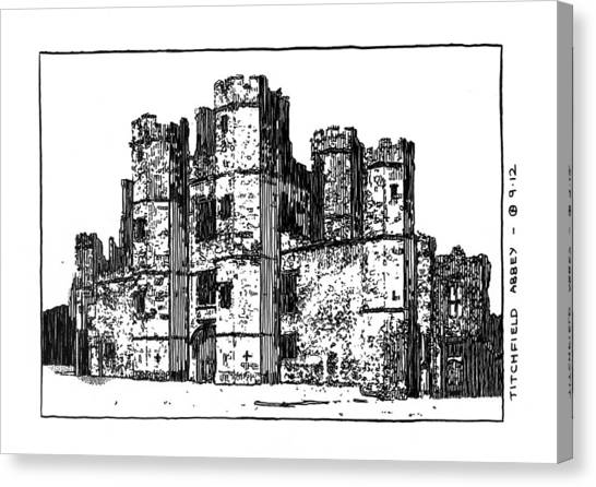 Titchfield Abbey Canvas Print by Peter Smith