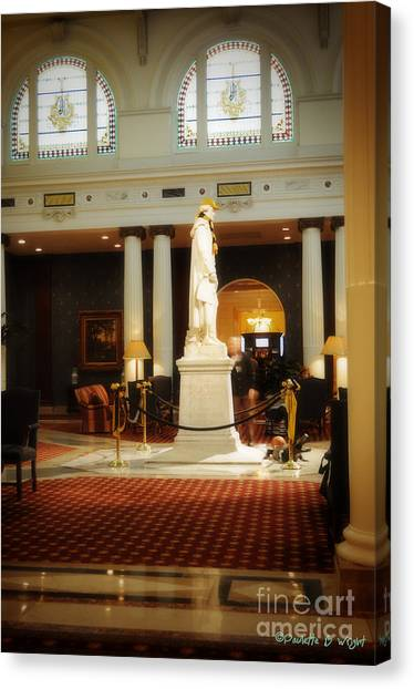 Virginia Commonwealth University Vcu Canvas Print - Tj In The Foyer by Paulette B Wright