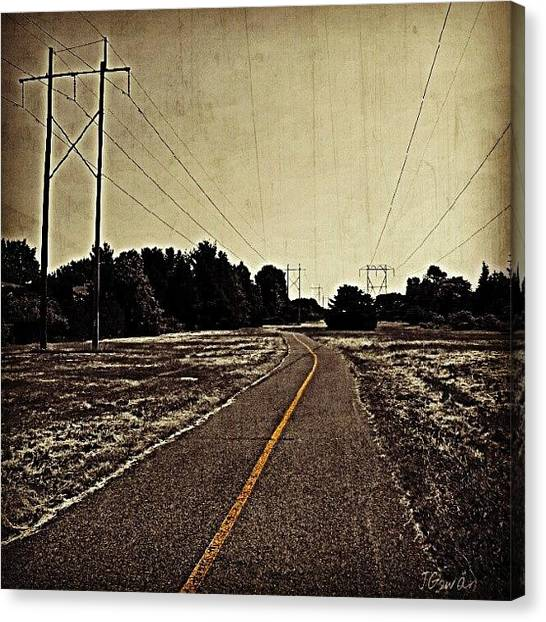 Pathway Canvas Print - To Nowhere Land. #nowhere #land by Jess Gowan