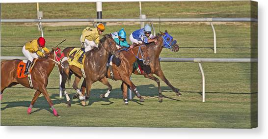 Finish Line Canvas Print - To The Line by Betsy Knapp
