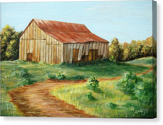 Tobacco Barn Canvas Print by AnnaJo Vahle