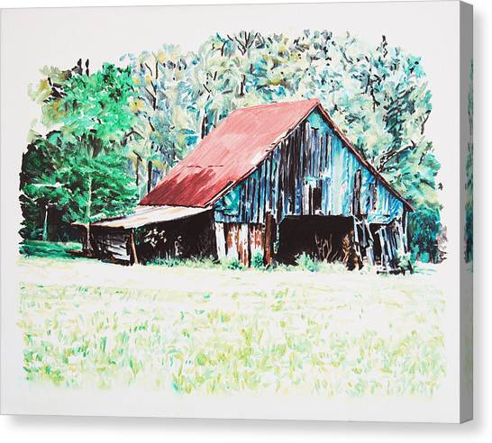 Tobacco Barn Canvas Print