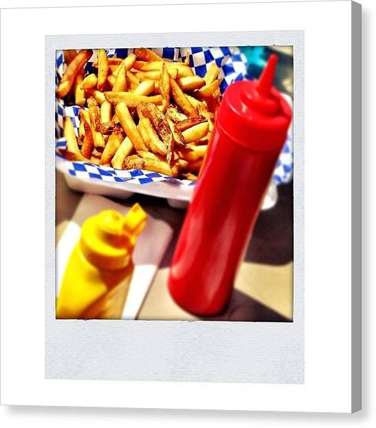 Ketchup Canvas Print - Today, Diet... 😄 by Ale Romiti 🇮🇹📷👣