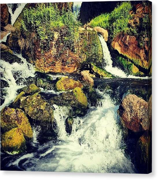 Waterfalls Canvas Print - Today Is #instagrammonday In Google+ by Ashok Mani