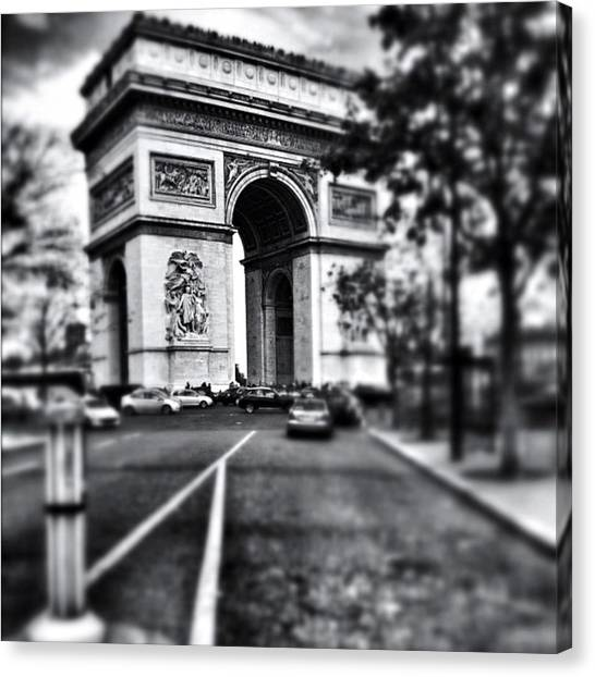 Paris Canvas Print - #today #paris #monument #bnw #monotone by Ritchie Garrod