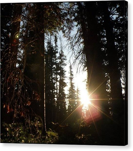 Rocky Mountains Canvas Print - Today's Follower Is @angel_g_lopez! by James Sibert