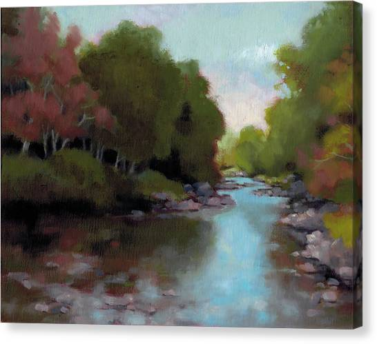 Toes Canvas Print - Toe River by Todd Baxter