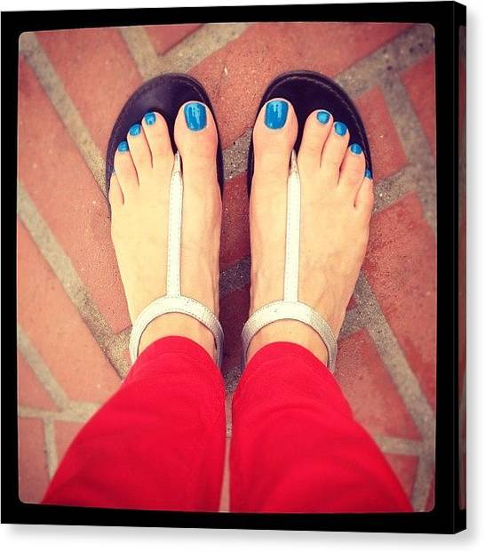 Wine Canvas Print - #toes #blue #red by Eric Kent Wine Cellars