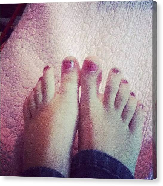 Watermelons Canvas Print - #toes #watermelon #nails #toenails by Kayla St Pierre