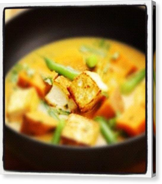 Vegetarian Canvas Print - #tofu #thai Red #curry #soup ...so by Bryce Gruber