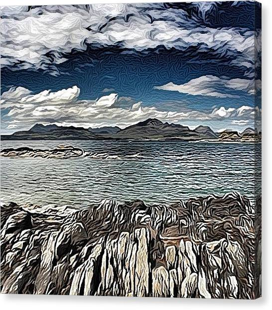 Impressionism Canvas Print - Tokavaig To The Black Cuillins by Robert Campbell