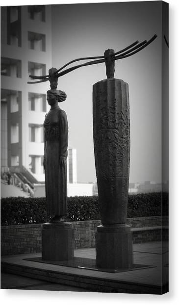 Monastery Canvas Print - Tokyo City Sculptures by Naxart Studio