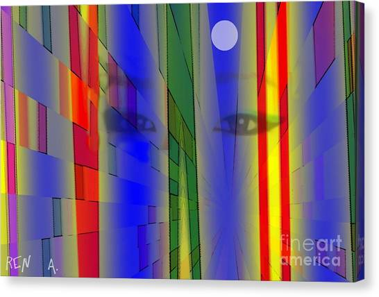 Tokyo Night Canvas Print by Rene Avalos