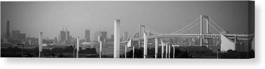 Tokyo Skyline Canvas Print - Tokyo Panorama by Naxart Studio