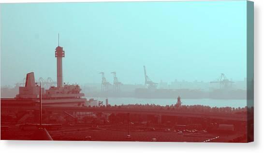 Metropolis Canvas Print - Tokyo Port by Naxart Studio