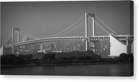 Rainbow Canvas Print - Tokyo Rainbow Bridge by Naxart Studio