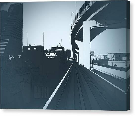 Metropolis Canvas Print - Tokyo Ride by Naxart Studio
