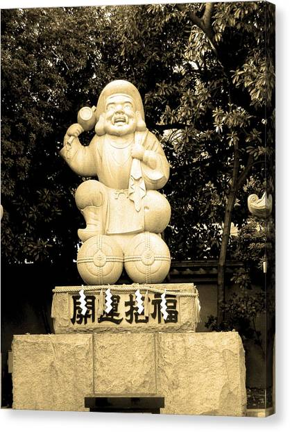 Monks Canvas Print - Tokyo Sculpture by Naxart Studio
