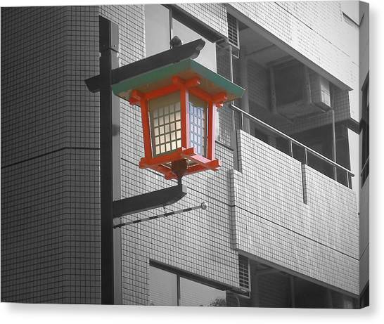 Street Lamp Canvas Print - Tokyo Street Light by Naxart Studio