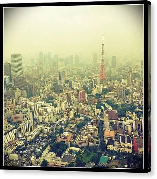 Japanese Canvas Print - Tokyo Tower  by Marc Gascoigne