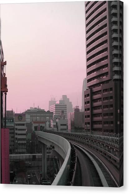 Metropolis Canvas Print - Tokyo Train Ride 6 by Naxart Studio