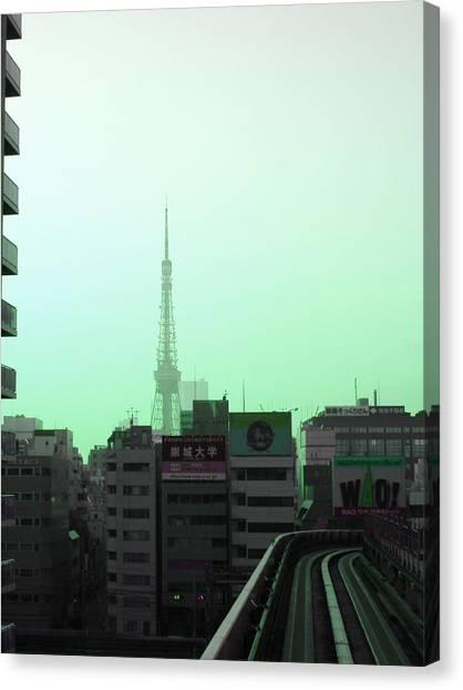 Metropolis Canvas Print - Tokyo Train Ride 7 by Naxart Studio