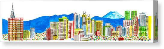Tokyo's Skyline Canvas Print by Catarina Bessell